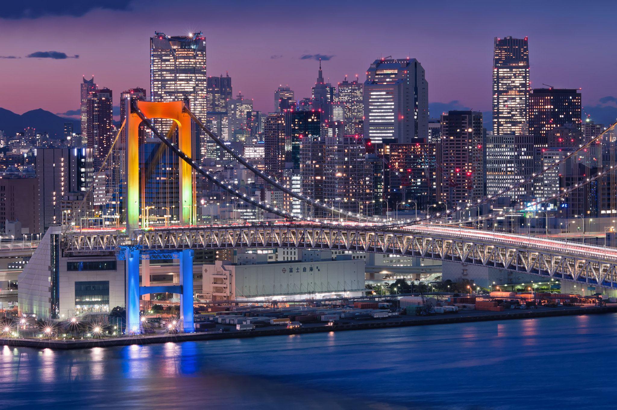 Image result for rainbow bridge from shinjuku