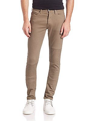 John Elliott The Cast 2 Embroidered Slim-Fit Jeans