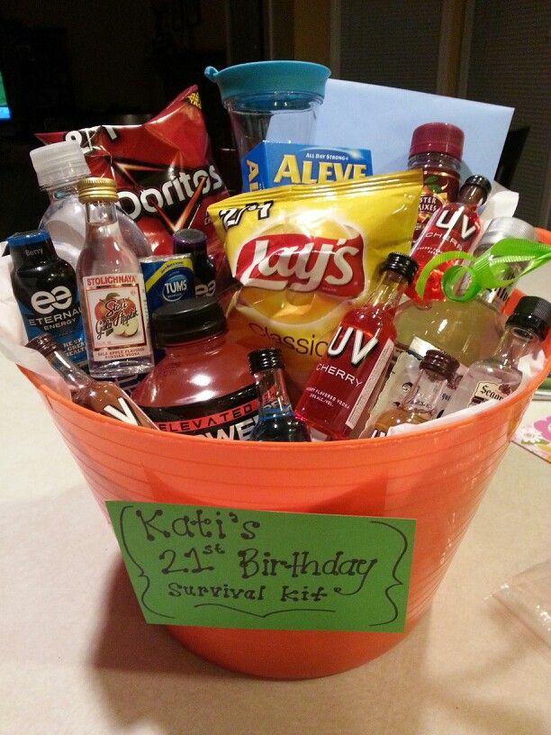 Pin By Cierra Cameron On Diy Birthday Survival Kit 21st Birthday Survival Kit 21st Birthday Gifts