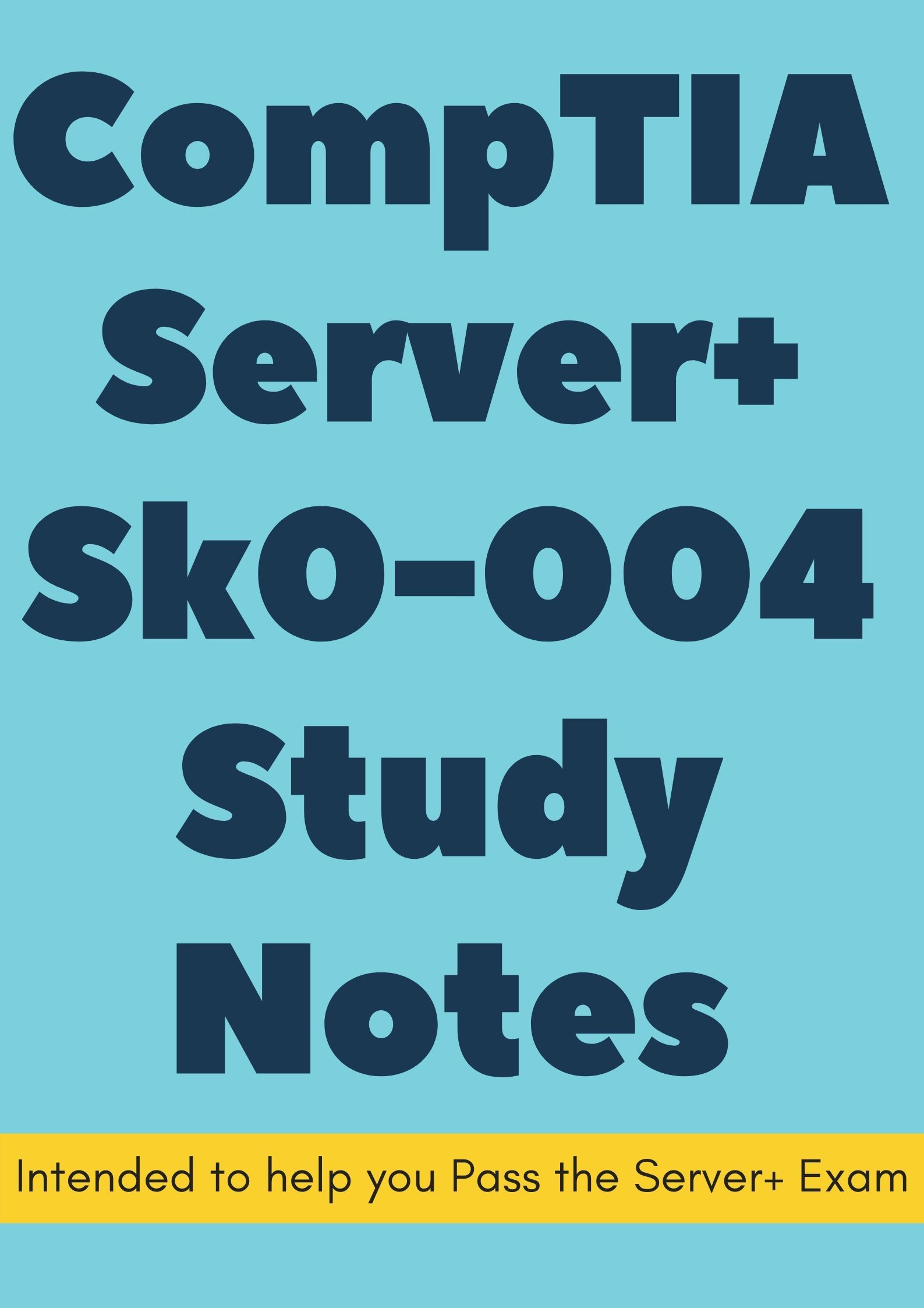 Comptia Cloud Certification Study Guide Comptia Server Sk0 004 Certification Exam Notes Intended To Help