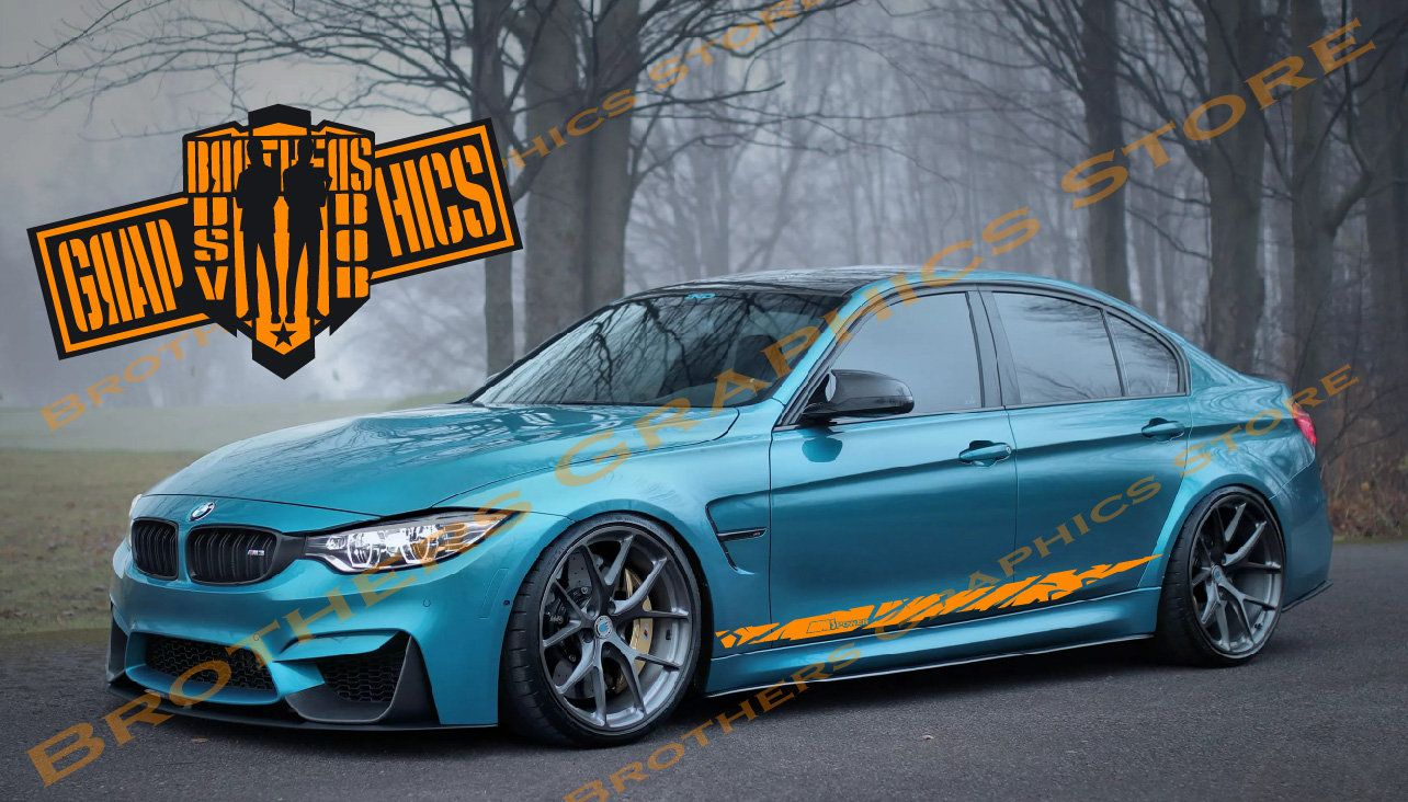 Side Door Vinyl Decal Stripes Graphics For Bmw M3 3 Series Etsy Bmw Graphic Kit Bmw M3