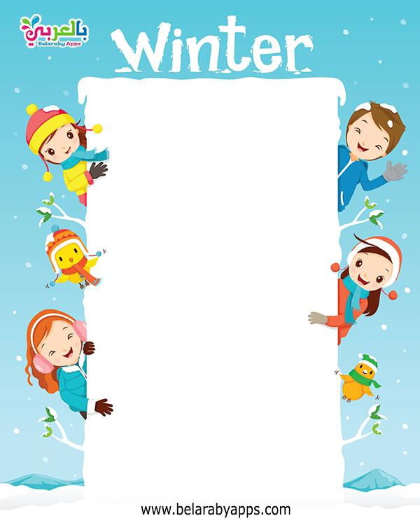 رسومات اطفال ملونة عن فصل الشتاء صور كرتون عن الشتاء للاطفال بالعربي نتعلم In 2021 Christmas Card Illustration Snowman Coloring Pages Paper Template