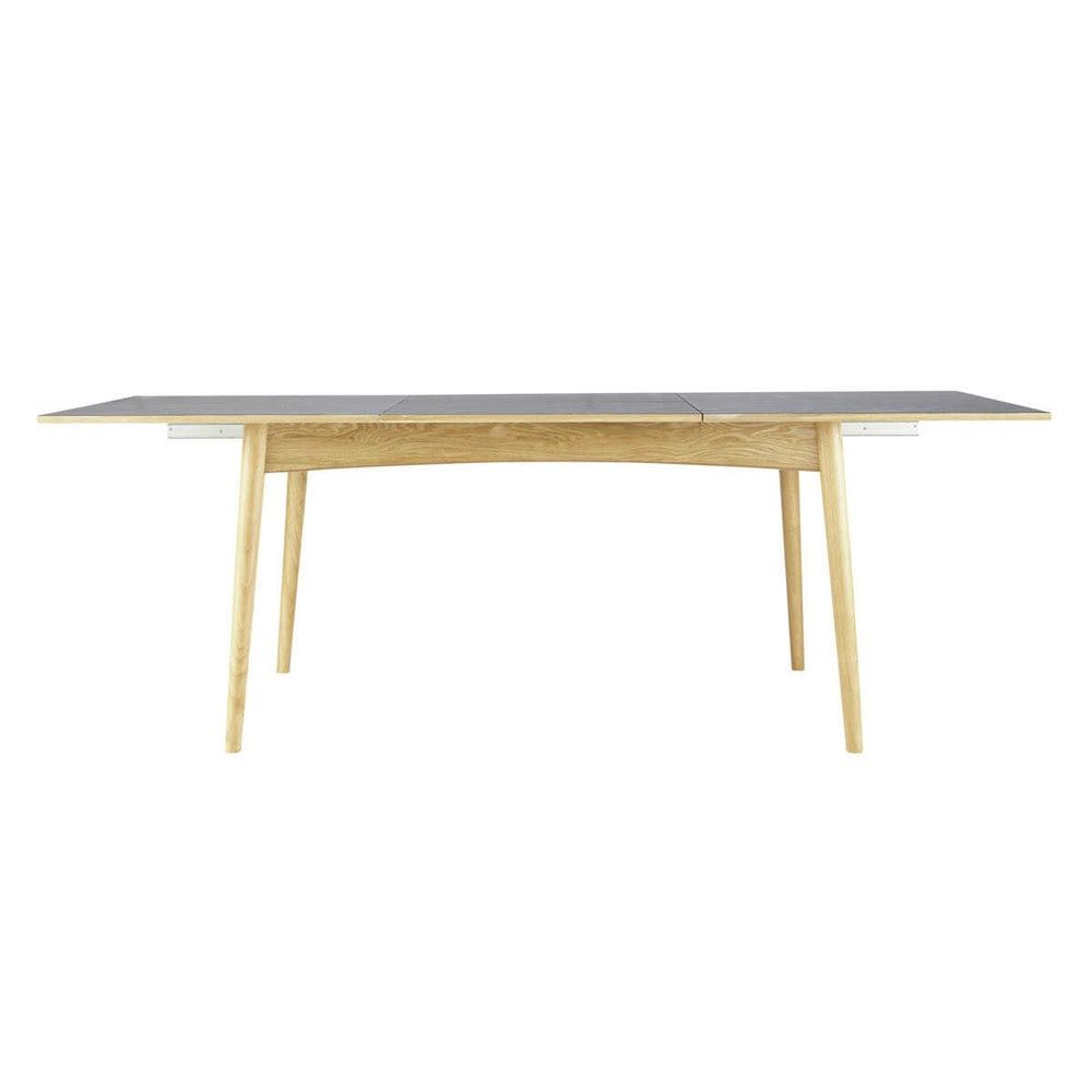 Extendible seater dining table in white w persona