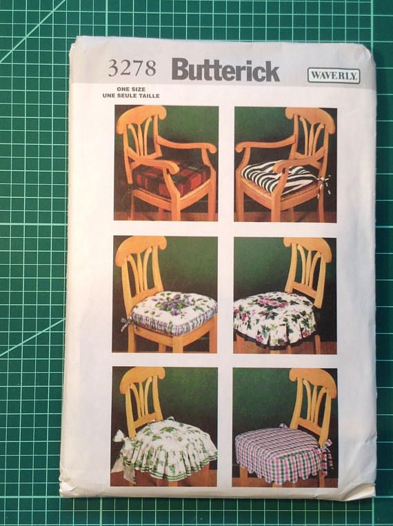 Uncut Sewing Pattern   Butterick 3278 Home Décor Waverly Easy Chair Pads