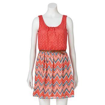 Lily Rose Lace Chevron Dress - Juniors #Kohls | The Trend Report ...