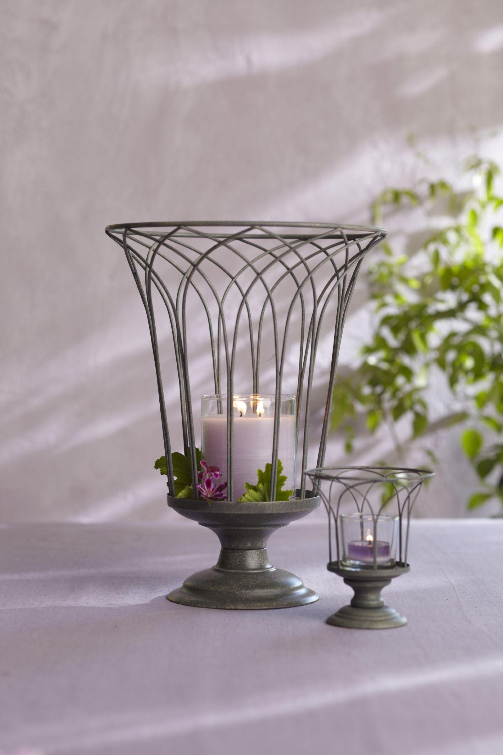 Windlichtglas & Windlichthalter Zaubergarten Set