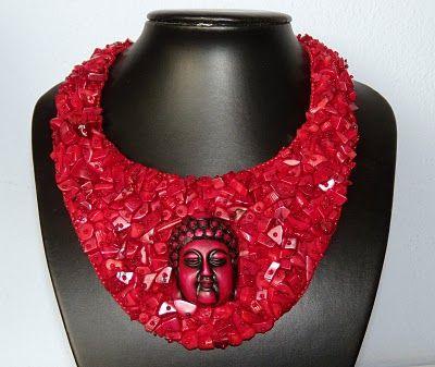 "PerlenSusa: Collier ""Red Buddha"""