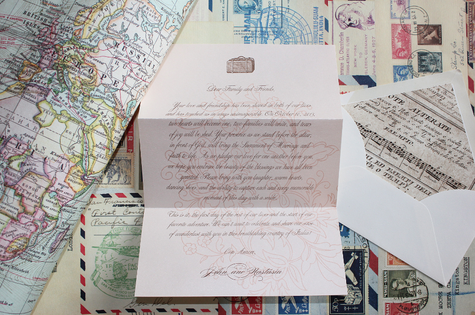 Love Letter Destination Wedding Invitation | Paper Source | Aljoša Videtič | TheKnot.com