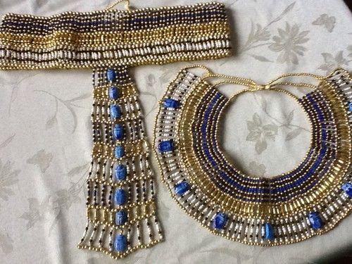 Cleopatra Necklace and Belt & Cleopatra Necklace and Belt | Halloween - Cleopatra | Pinterest ...