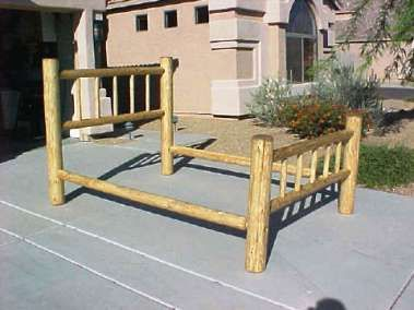Queen Size Southwestern Lodgepole Bed The Sw Headboard And