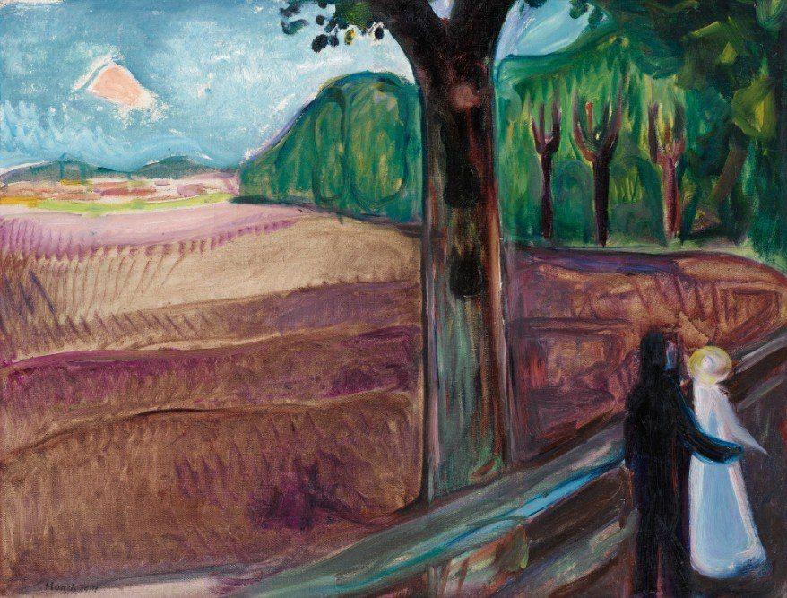 edvard munch summer night 1917 arte kunstproduktion kunst malerei moderne acrylbilder bilder kaufen