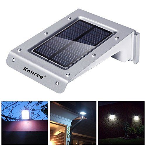 Kohree 20 Led Bright Solar Powered Motion Sensor Light Outdoor Garden Patio Path Wall Mount Motion Sensor Lights Outdoor Sensor Lights Outdoor Fence Lighting