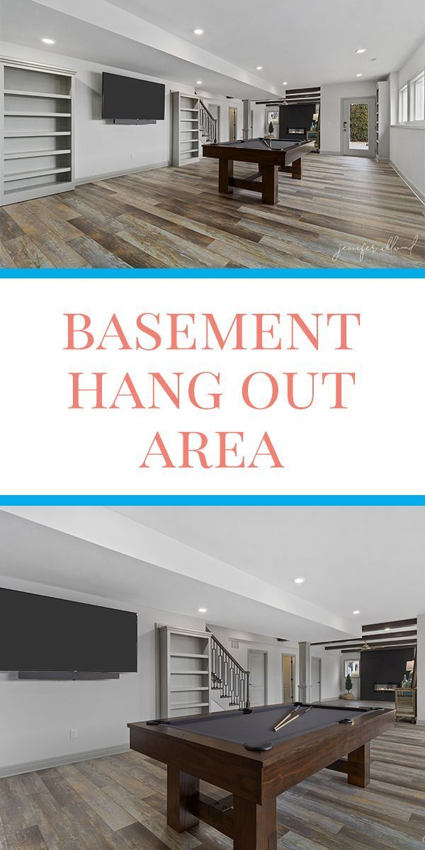 Our new basement hang out area is perfect for our teens, guests, and family nights. With a pool table, card table, and an open floor design, it's going to be such a fun place to spend time together!   #basement #basementideas #basementremodel #familyareadecor #familyareaideas #hangoutroom #hangoutroomideas #basementremodeling #pooltableroomideas #homedecorating #homedecor #homeremodel