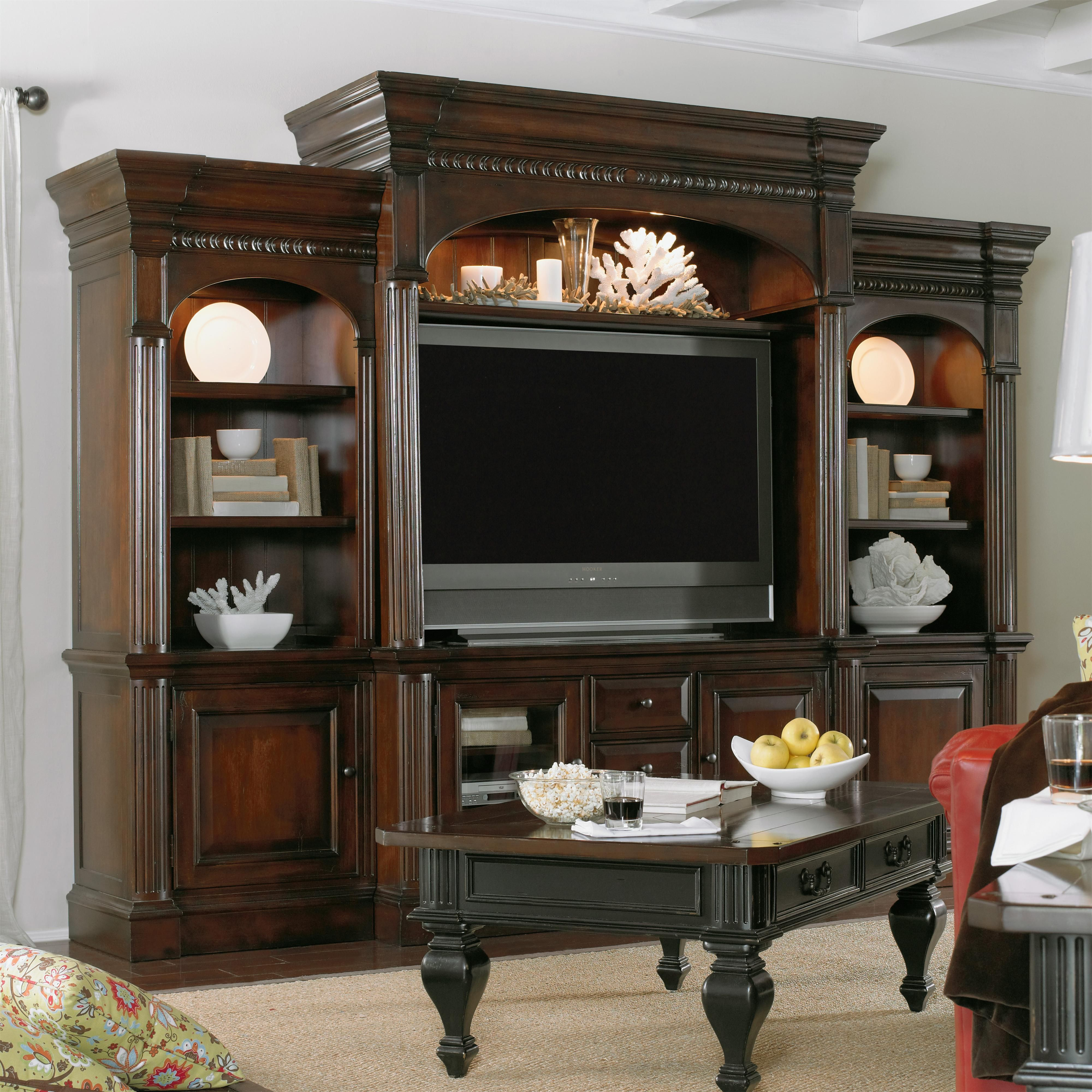 New Castle II Entertainment Wall Unit By Hooker Furniture