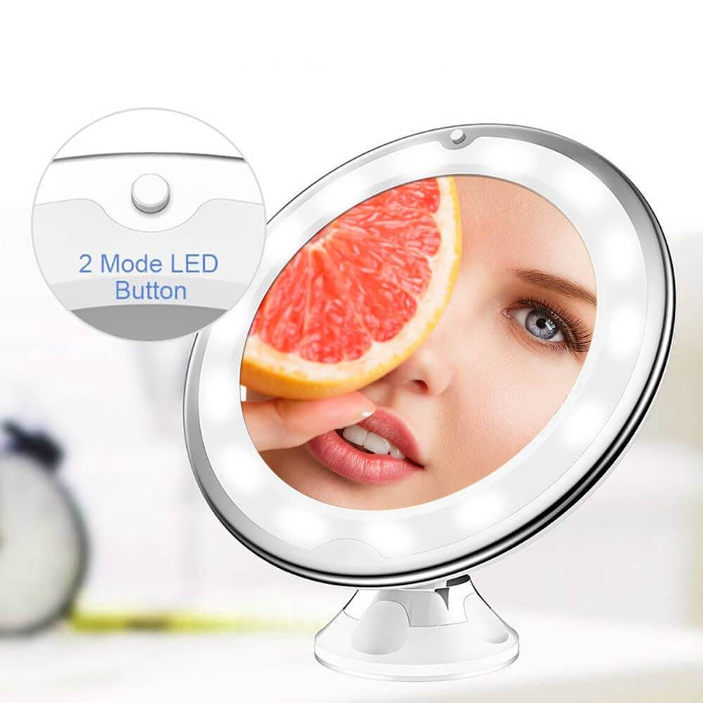 10x Magnifying Led Light Makeup Mirror In 2020 Makeup Mirror Light Makeup Makeup Mirror With Lights