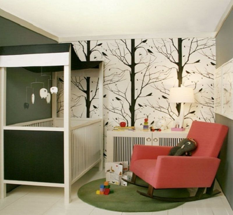 Kids Rooms Climbing Walls And Contemporary Schemes: Modern Wall Paint Ideas, Simple Wall