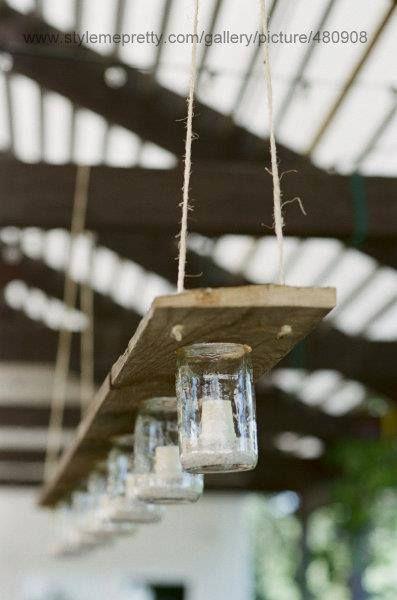 DIY candle holder-lamp