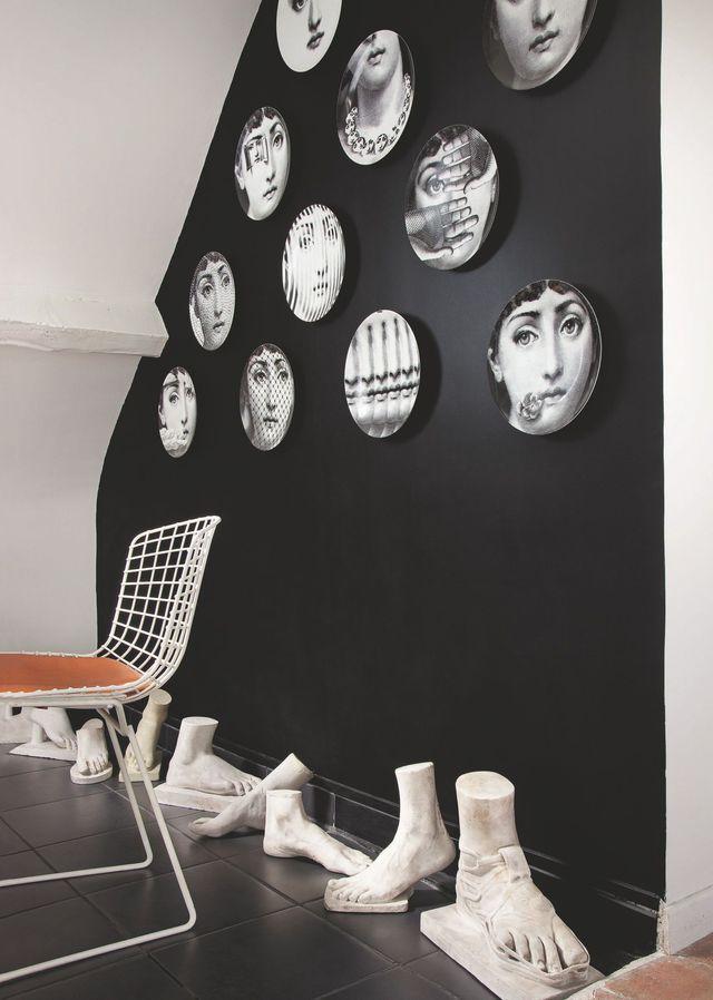 appartement paris 6 un petit appart atypique d coration murale appartement appartement. Black Bedroom Furniture Sets. Home Design Ideas