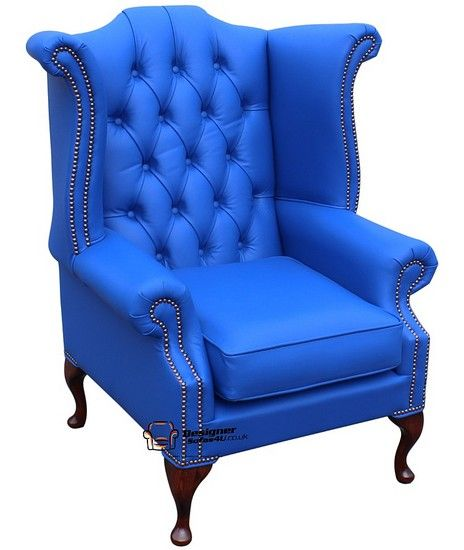 Best Chesterfield Queen Anne High Back Wing Chair Uk 640 x 480