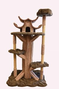 Cat Playhouse A Cat Tree For Large Cats That Looks Like A Real Tree Kittycattree Com Cat Tree House Cat Condo Cat Playhouse