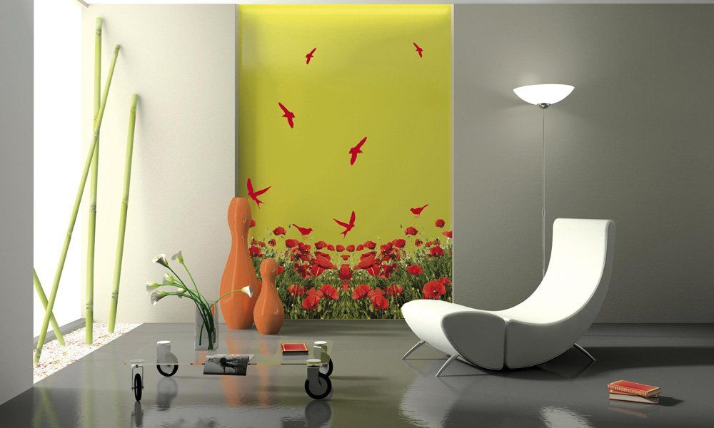 Consejos para decorar una pared con stickers colores - Decoracion en paredes con pintura ...