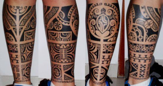 tattoo sur mollet maori. Black Bedroom Furniture Sets. Home Design Ideas