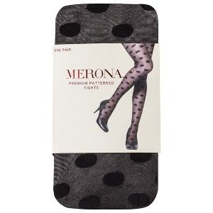Merona Premium® Women's Large Dot Tights - Black