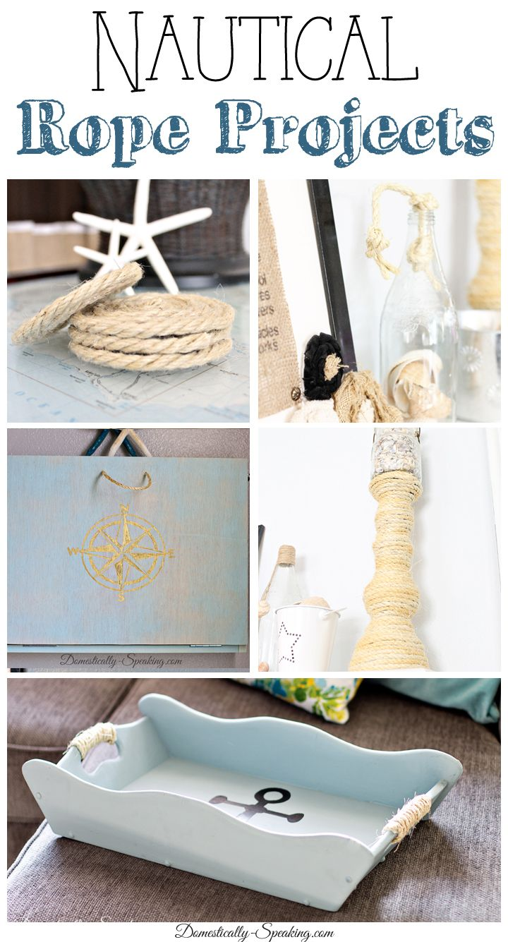 Nautical rope diy projects nautical rope beach and craft for Rope projects