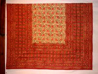 Table Cloth 150 X 225cm in Red Lotus Reverse Design