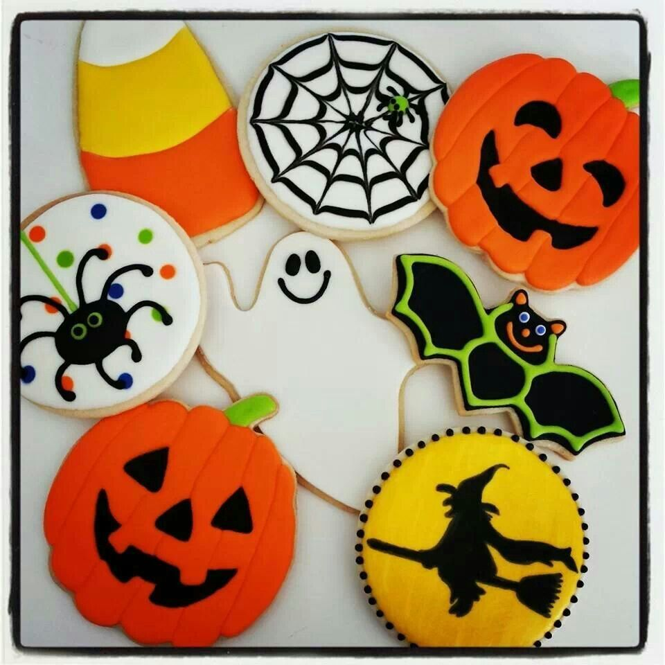 Halloween Cookies | Halloween cookies decorated, Sugar ...