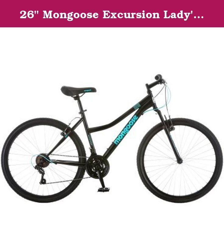 26 Mongoose Excursion Lady S Mountain Bike Black Turquoise The