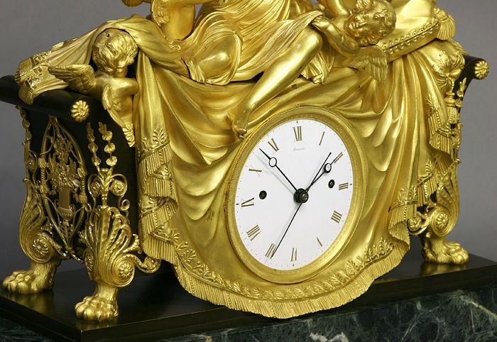 C1812 Rare English Figural Mantel Clock 29 500 Maker Semaine