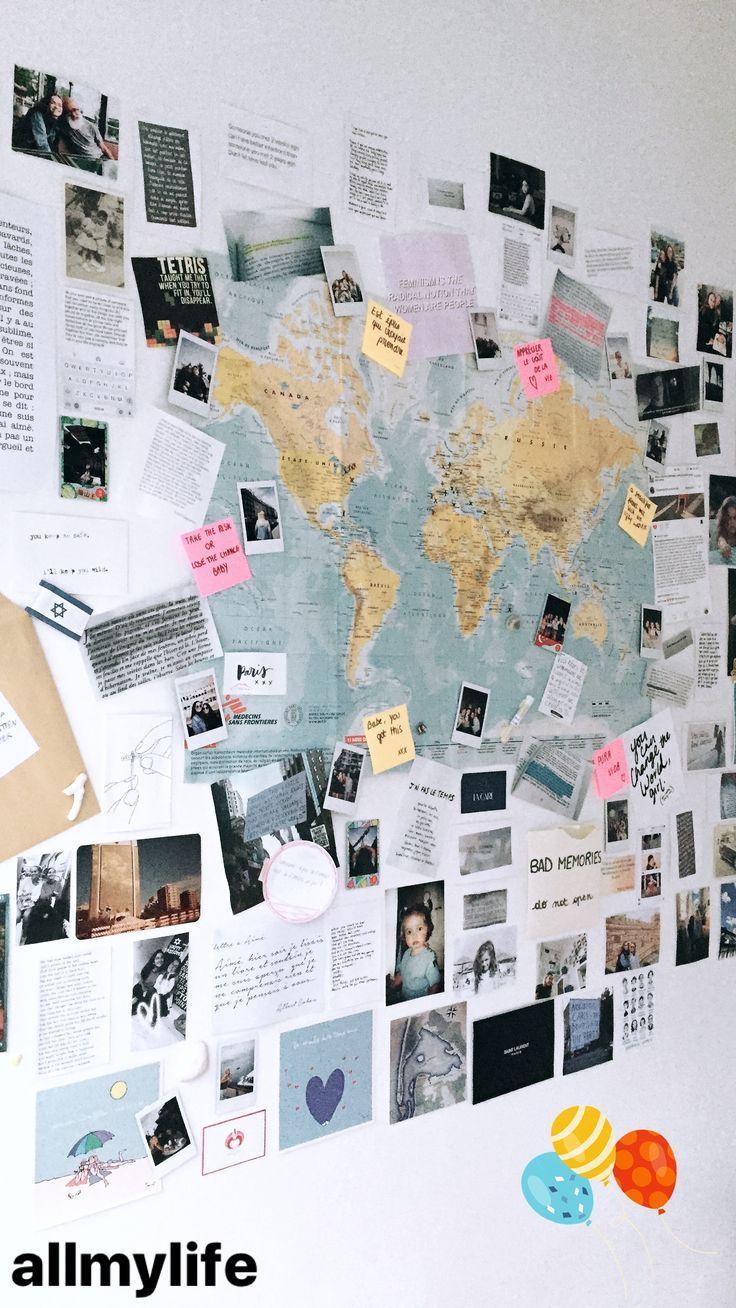 mein Leben an der Wand #collageboard