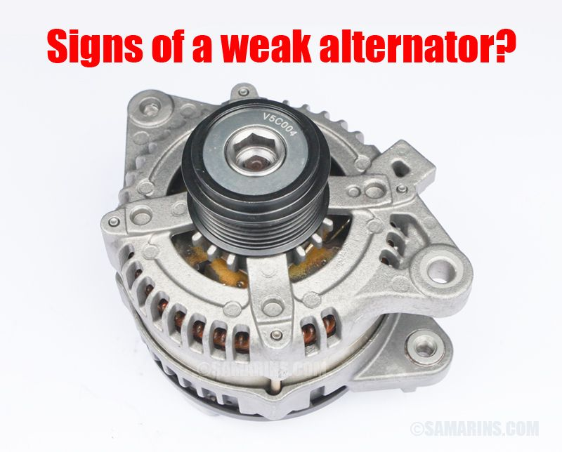 Signs of a weak alternator? Alternator, Car mechanic