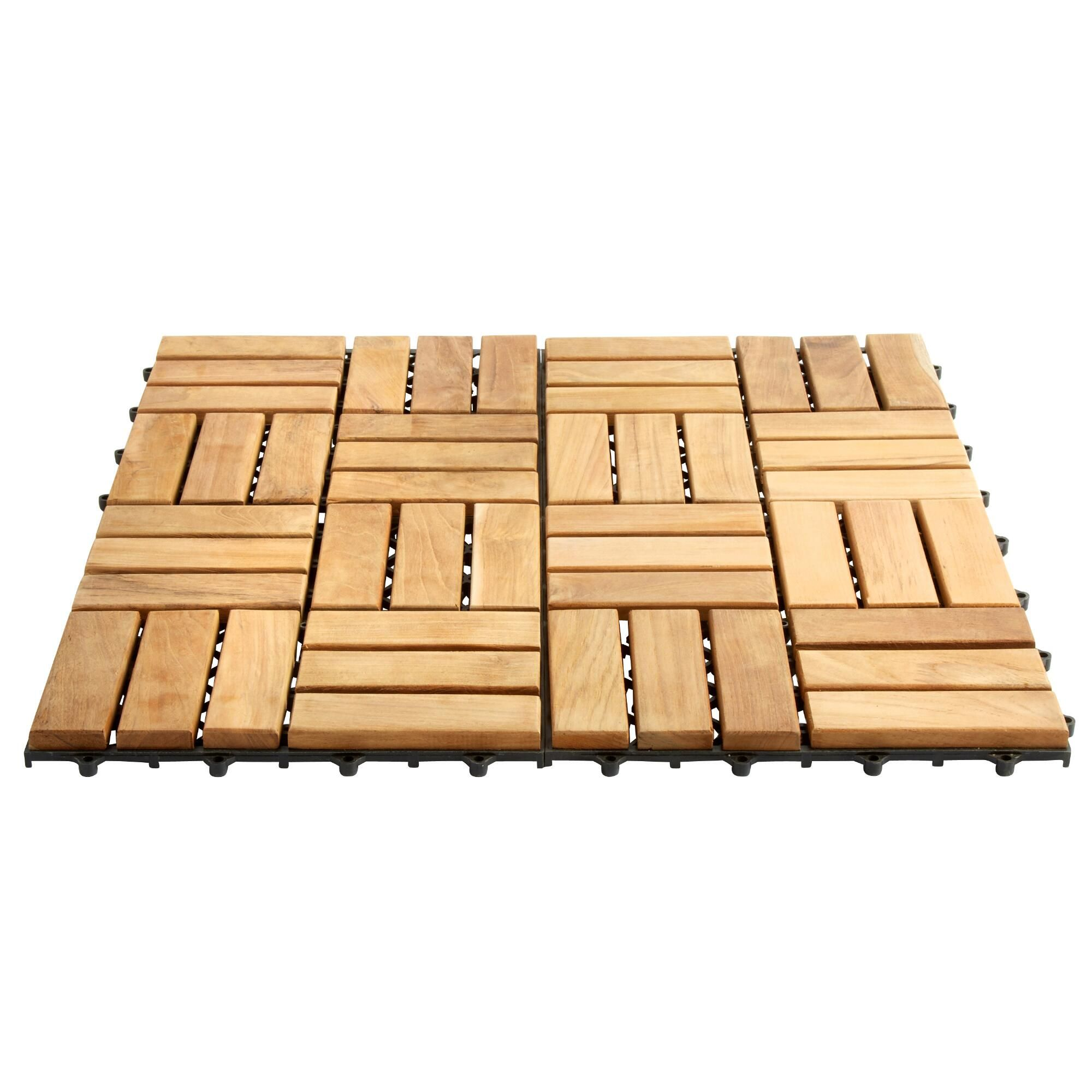 Teak Flooring Tiles Are A Terrific Weather Resilient Option For Your Deck Or Patio These Stylish Squares Easy To Install And Give E New