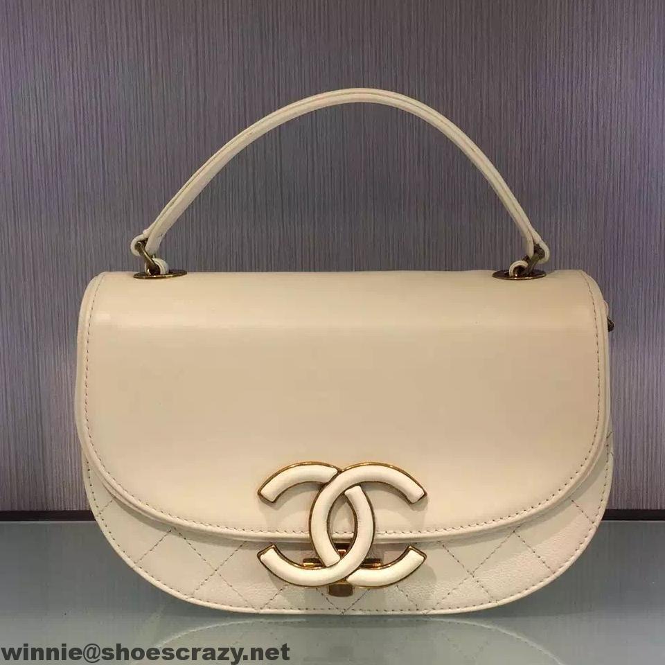 2f2dad67e5a3 Chanel CC Logo Round Evening Bag A91946 2017 t