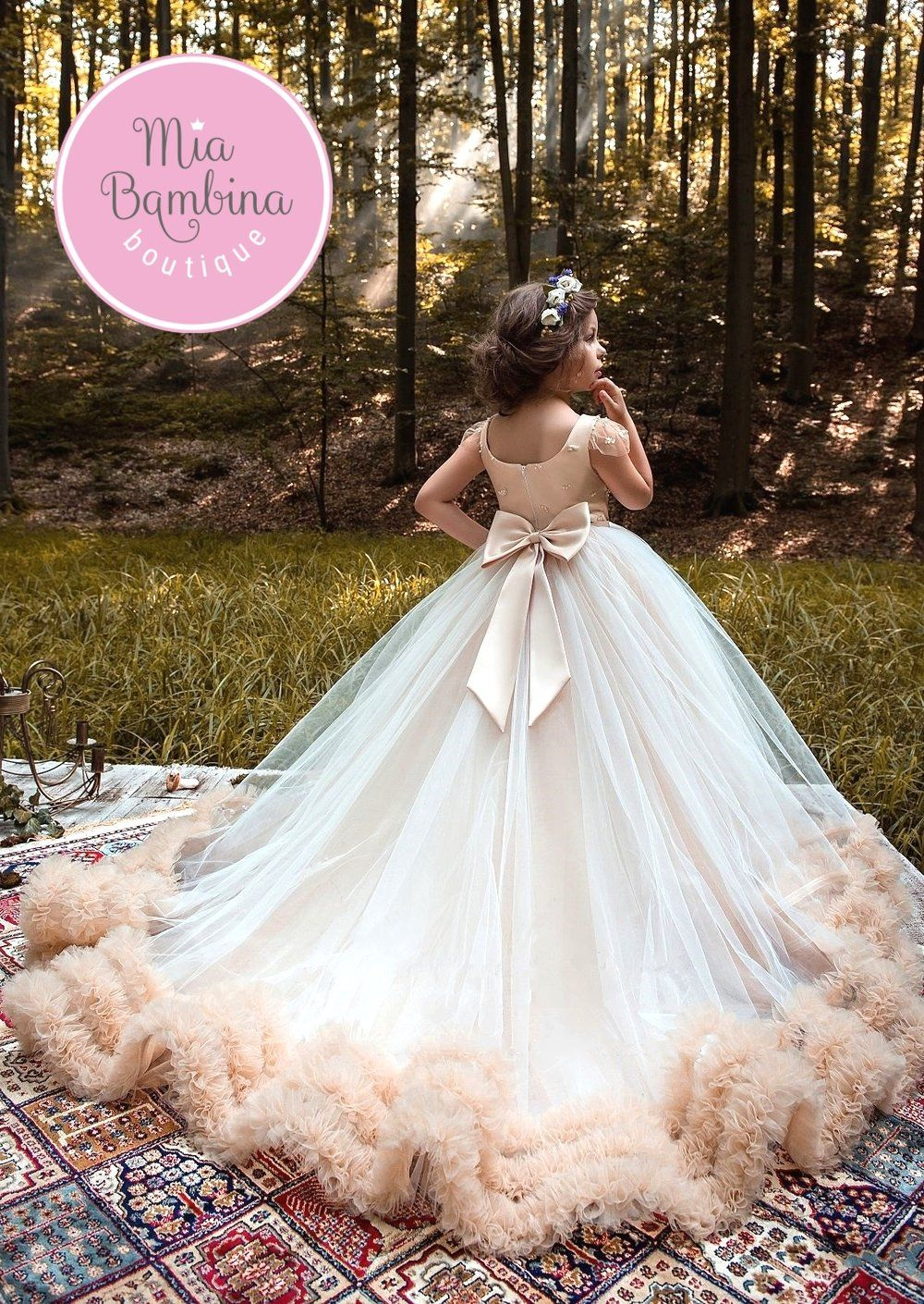 Flower Girl Dresses Lombardy blush flower girl dress with