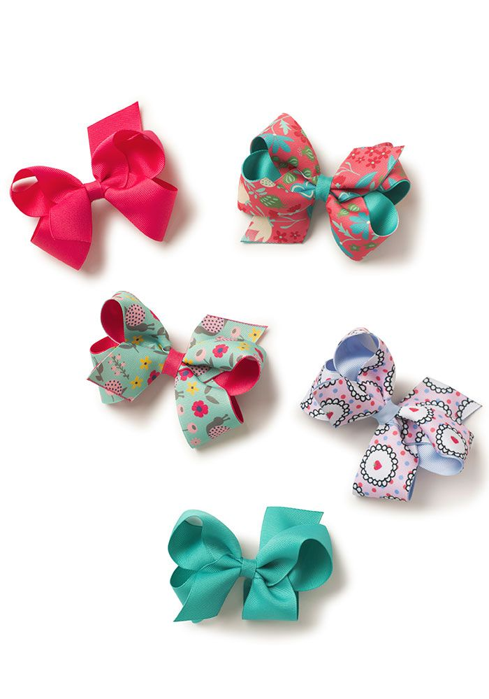 41427ea78d8 My Souvenir Bow Set - Matilda Jane Clothing Spring Girls Fashion 2018 -  This set of five printed and solid no-slip hair bows features an extra  special ...