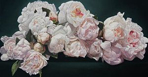 Peonies Cascade Print by Thomas Darnell