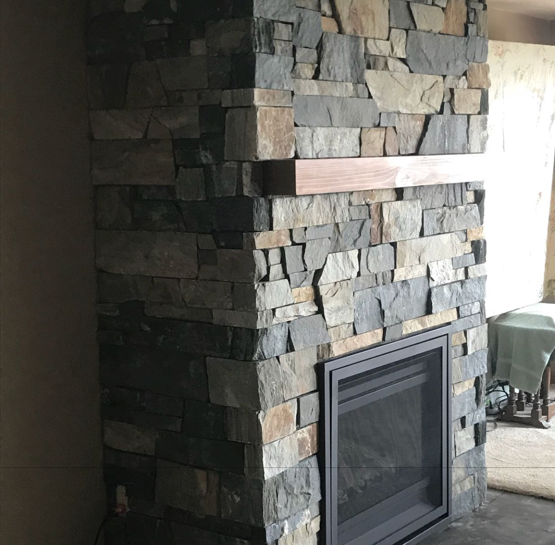 San Marcos Uniform Ledge Fireplace Bedface Ledgestone Natural