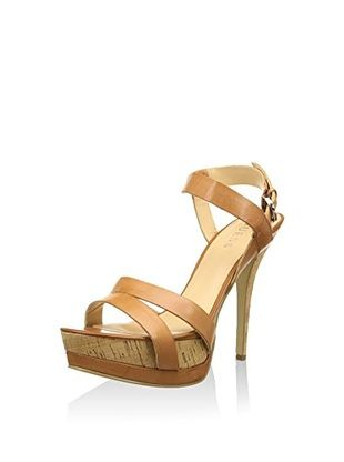 Guess fl1grylea03 bianco sandalo pelle con tacco sandal with heel white leather