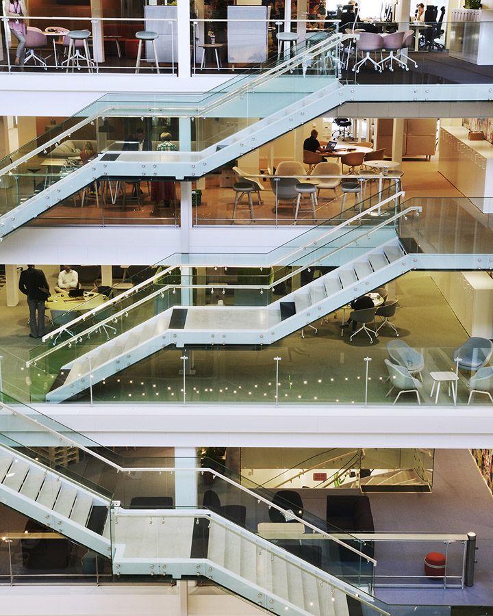 Coop headquarters by Koncept Stockholm, Stockholm   Sweden office - coloured floor