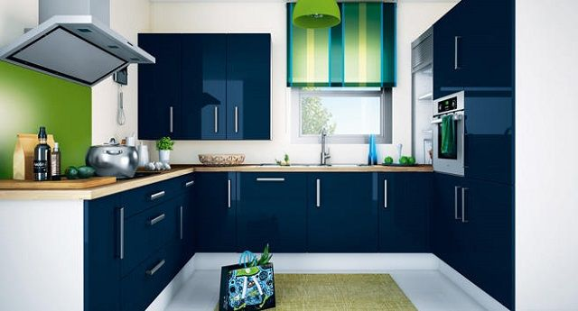 COCINA DE COLOR AZUL | cocinas | Pinterest | Color azul, De colores ...