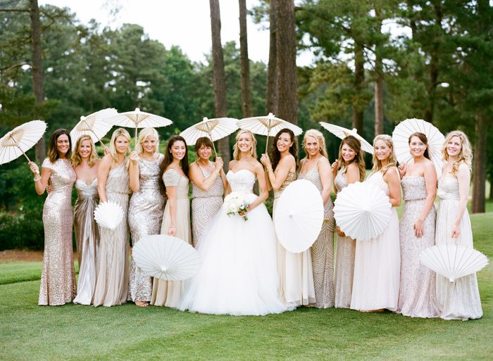 Bridesmaids with Parasols   photography by http://www.grahamterhune.com