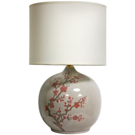 20 Cherry Blossom Vase Lamp Oriental Furniture Unique Table