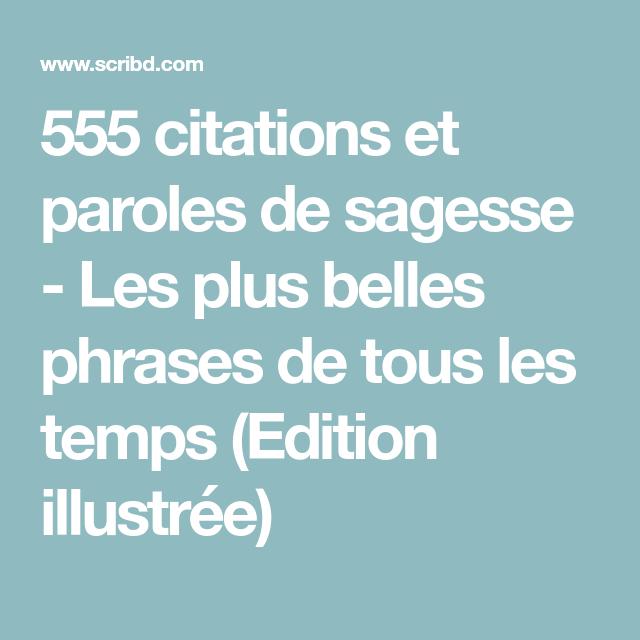 555 Citations Et Paroles De Sagesse Les Plus Belles