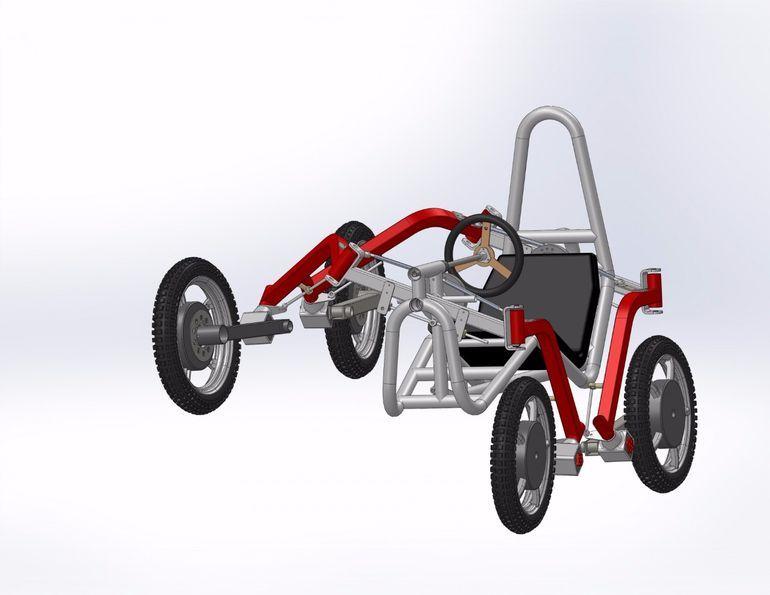 Swincar Tilting 4 Wheel Drive Spider Car Makes Light Work Of Bizarre Terrain