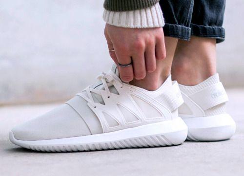 adidas Tubular Radial 'Crystal White' (via Kicks