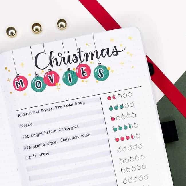 23 Christmas Bullet Journal Ideas To Have Fun and Stress Less