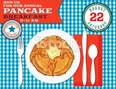 pancake breakfast poster template royalty free stock vector art illustration